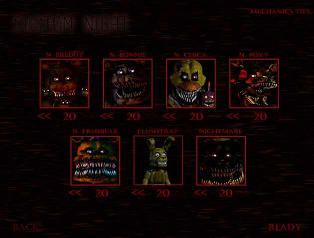 Five Nights at Freddy's 4: Custom Night Recreation Screenshots