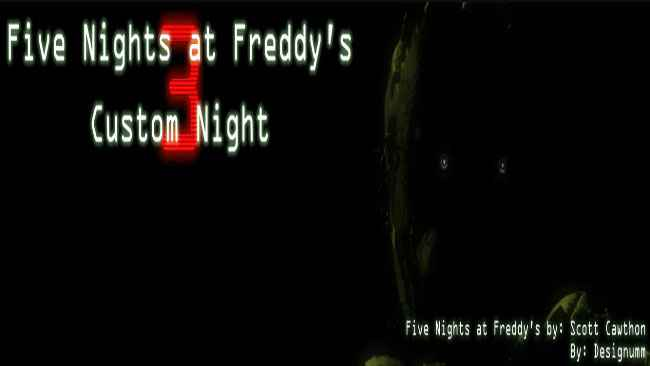Five Nights at Freddy's 3 Custom Night Free Download